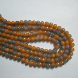 Dual Shade Glass Bead 8 mm Grey & Orange