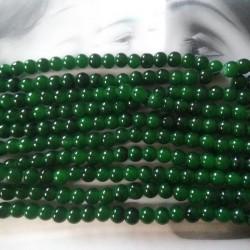 Glass Beads 8 mm Dark Green