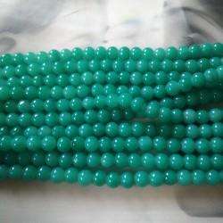 Glass Beads 8 mm Sea Green