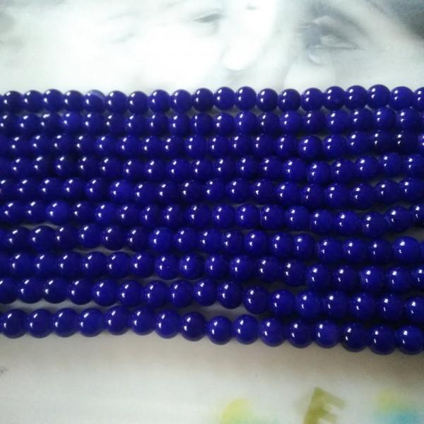 Glass Beads 8 mm Royal Blue