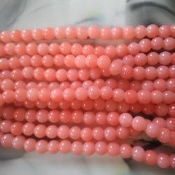 Glass Beads 8 mm Peach