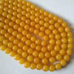Glass Bead 10 mm Mustard