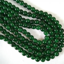 Glass Bead 10 mm Dark Green