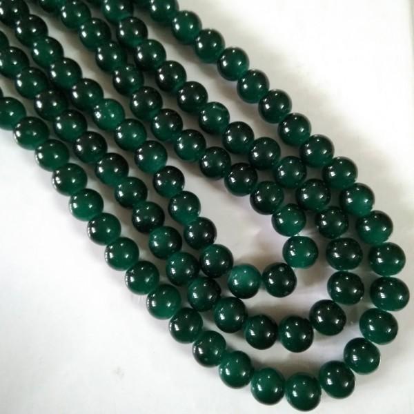 Glass Bead 10 mm Blackish Green