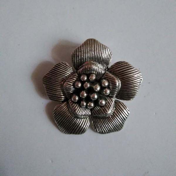 German Silver Floral Pendant