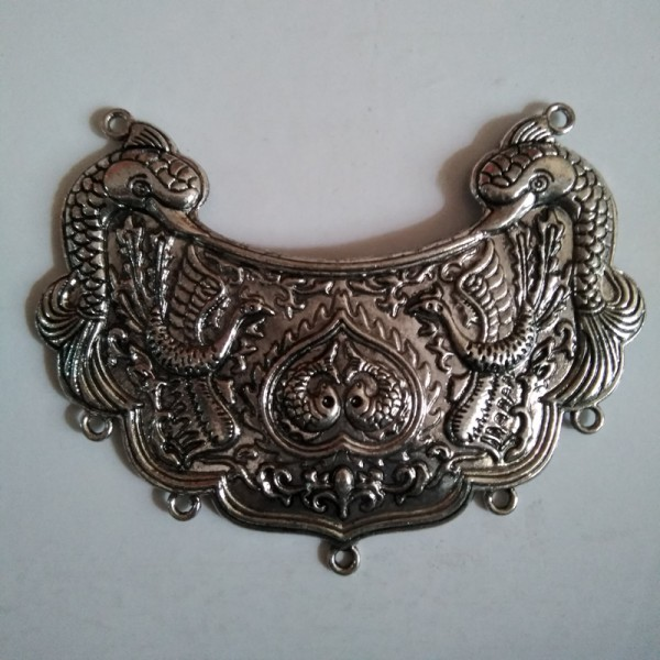 German Silver Big Pendant with 5 holes hangings